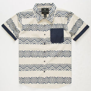 Other - Boys Size Small Button Up Zig Zag Top Shirt Cute